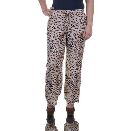 Style & Co Women's  Soft Leopard Wide Leg Pant Size