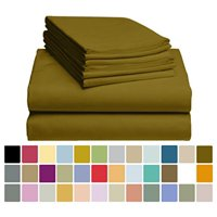 6 PC LuxClub Bamboo Sheet Set w/ 18 inch Deep Pockets - Eco Friendly, Wrinkle Free, Hypoallergentic, Antibacterial, Moisture Wicking, Fade Resistant, Silky, Stronger & Softer than Cotton - Brown King
