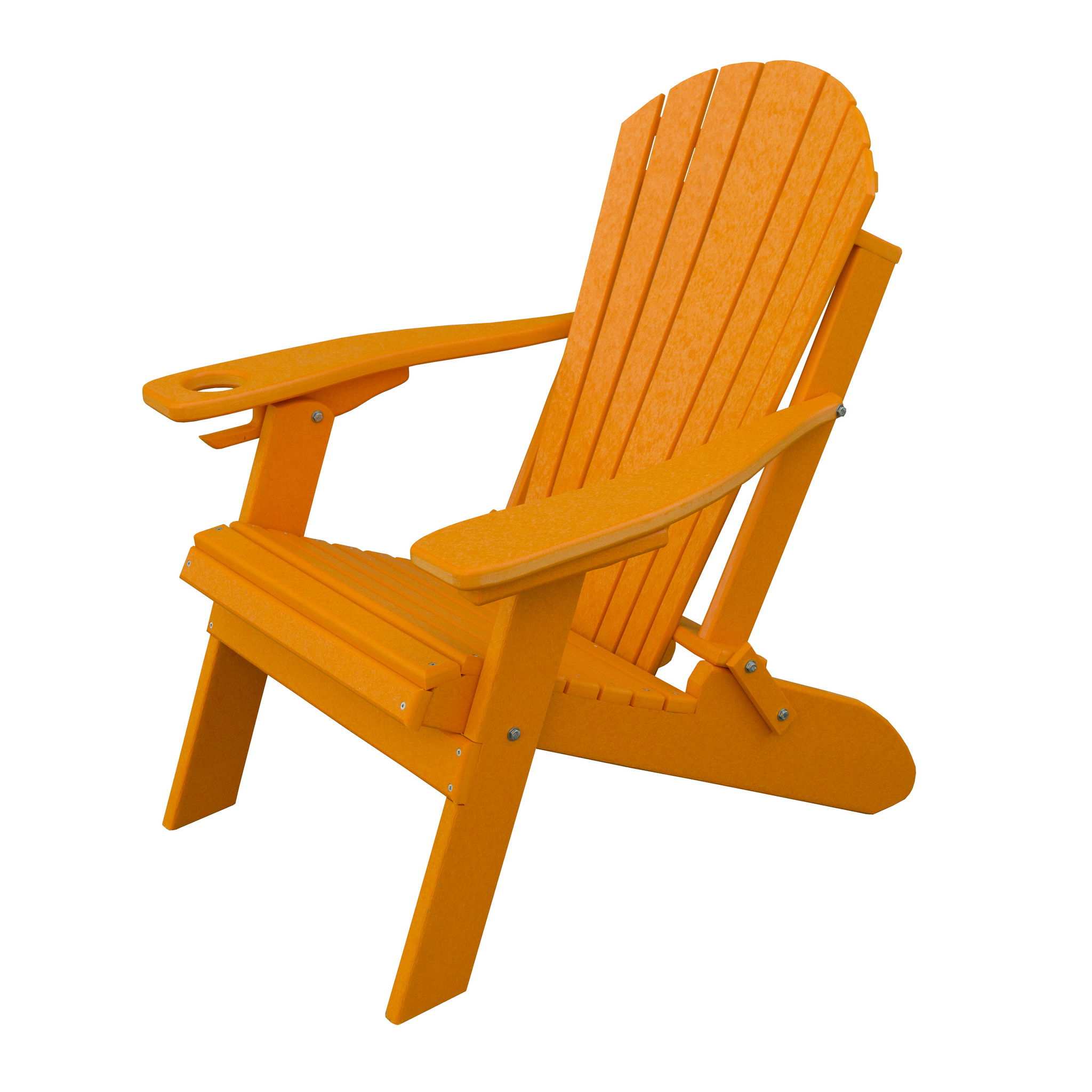 Furniture Barn USA® Poly Folding Adirondack Chair with Cup and Smart Phone Holder - Aruba Blue Color