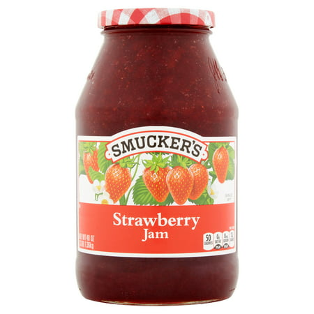 (2 Pack) Smucker's Strawberry Jam, 48 oz ()