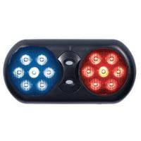 CODE 3 VFP36RB Visor Flip Light,LED,Red/Blue,11 In W