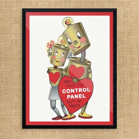The Holiday Aisle 'Valentine You Put My Control Panel out of Order' Graphic Art - All Holidays In Order