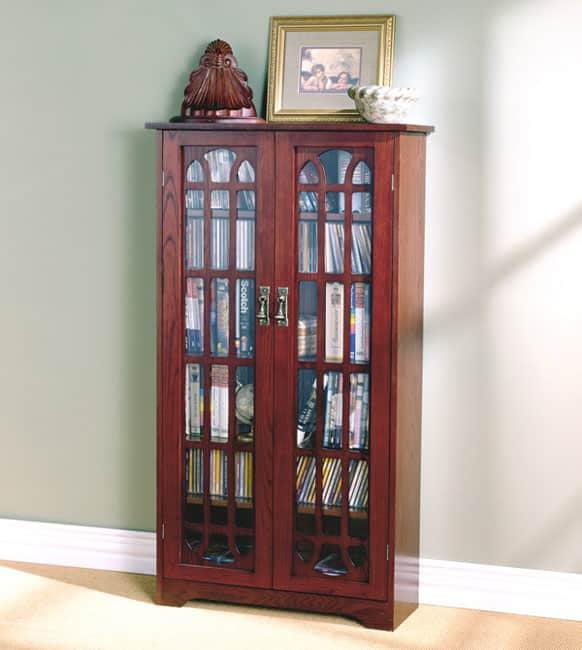 Harper Blvd Cherry Window Pane Media Cabinet by Overstock