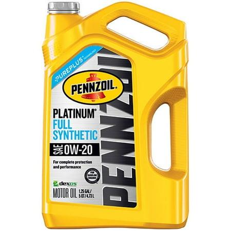 Pennzoil Platinum 0W 20 Motor Oil  5 Qt