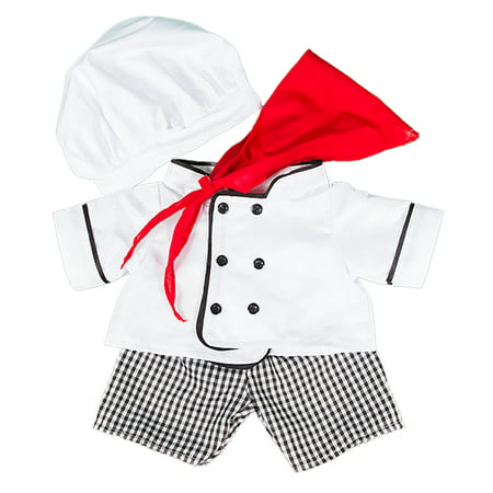 Chef Outfit Teddy Bear Clothes Fits Most 14