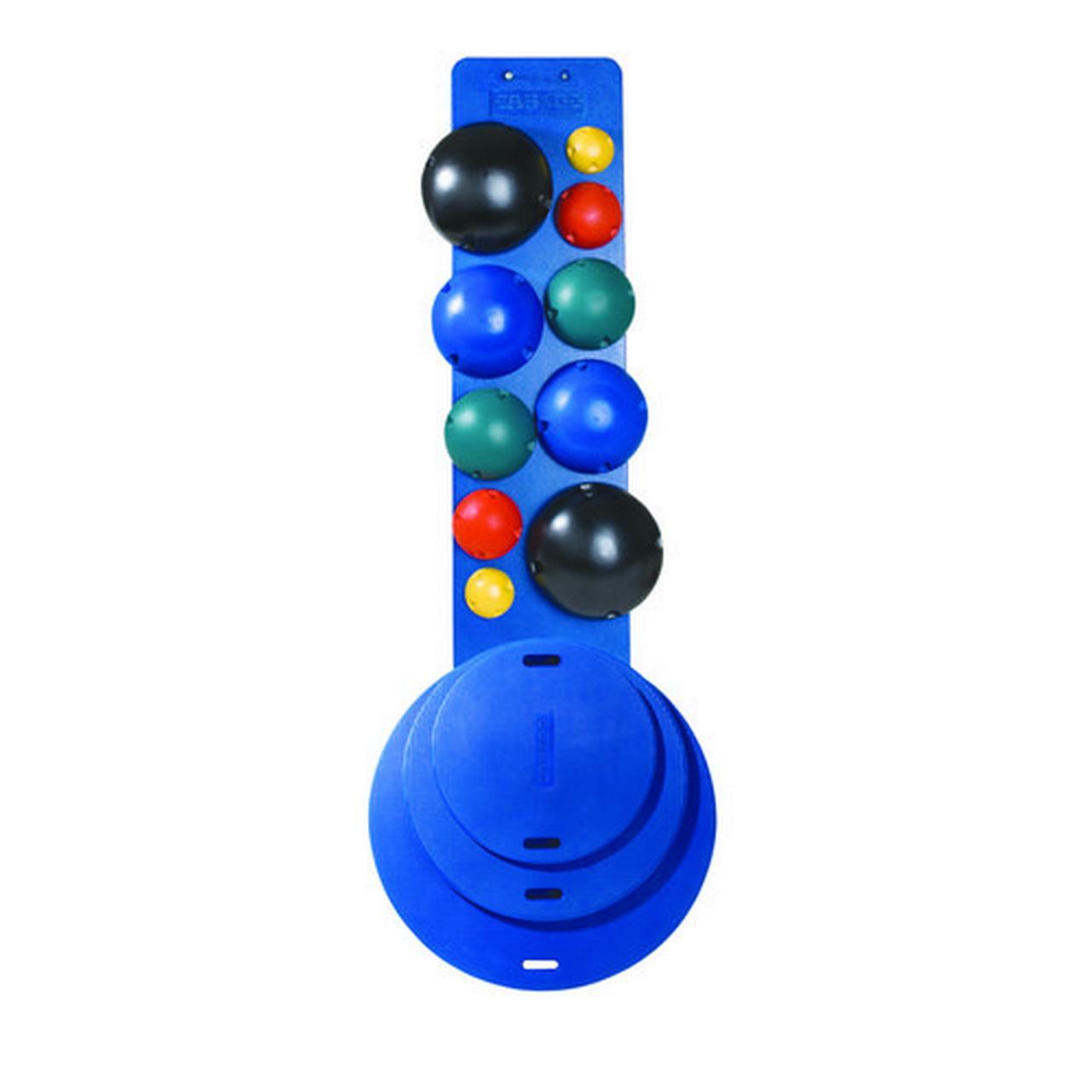 CanDo 10-1766 MVP Balance System 10-Ball Set 2 Each Yellow Through Black No Rack