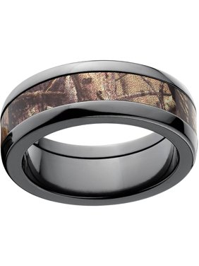 Product Image Realtree Ap Men S Camo 8mm Black Zirconium Wedding Band With Polished Edges And Deluxe Comfort Fit