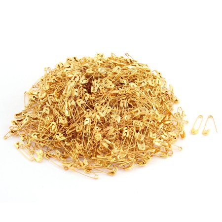 1000 Pcs Metal Safety Craft Work Skirt Sewing Knitted Brooch Pin Gold Tone Gold Jade Brooch