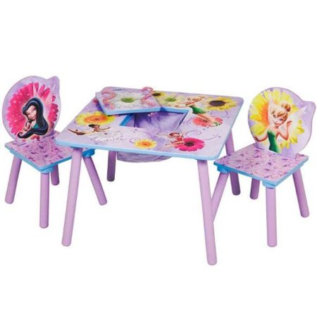 Disney Fairies Storage Table and Chairs Set by Delta - Walmart.com