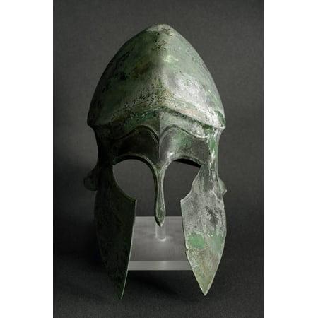 Greek Corinthian Bronze Helmet Print Wall Art