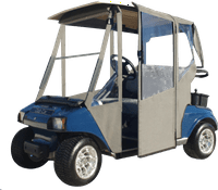 DoorWorks Hinged Door Golf Cart Enclosures - Club Car DS 2000+