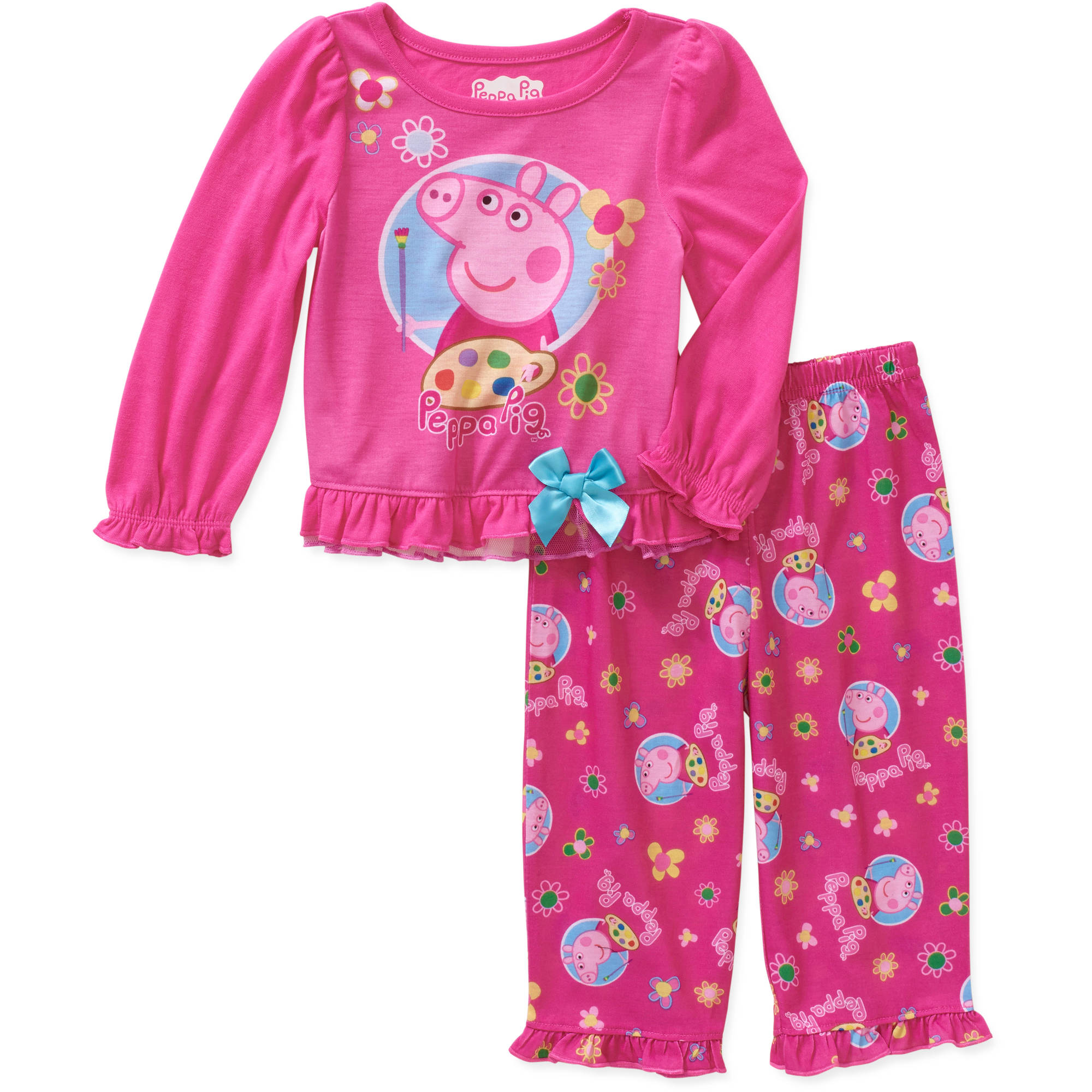 Baby Toddler Girl Long Sleeve Jersey Pajama Set
