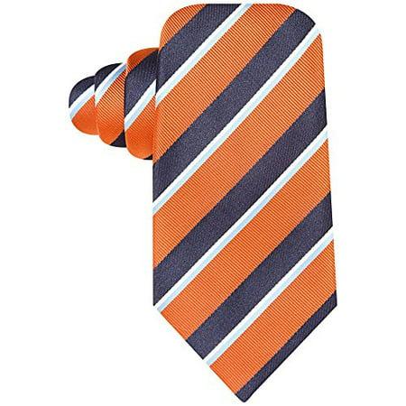 John Ashford Men's Traditional Stripe Tie (Orange, (Ashford Stripes)