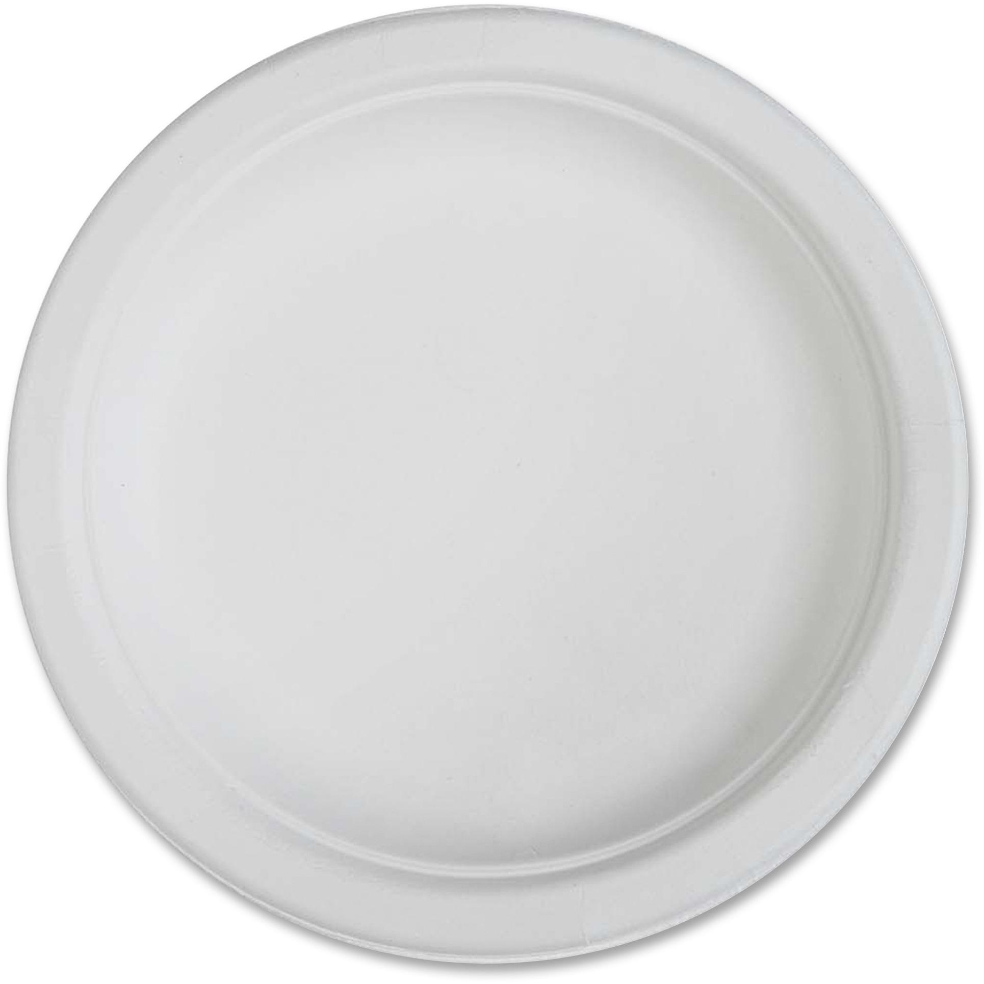 """Genuine Joe Compostable Plates, 6"""", 1000 / carton, GJO10216CT"""