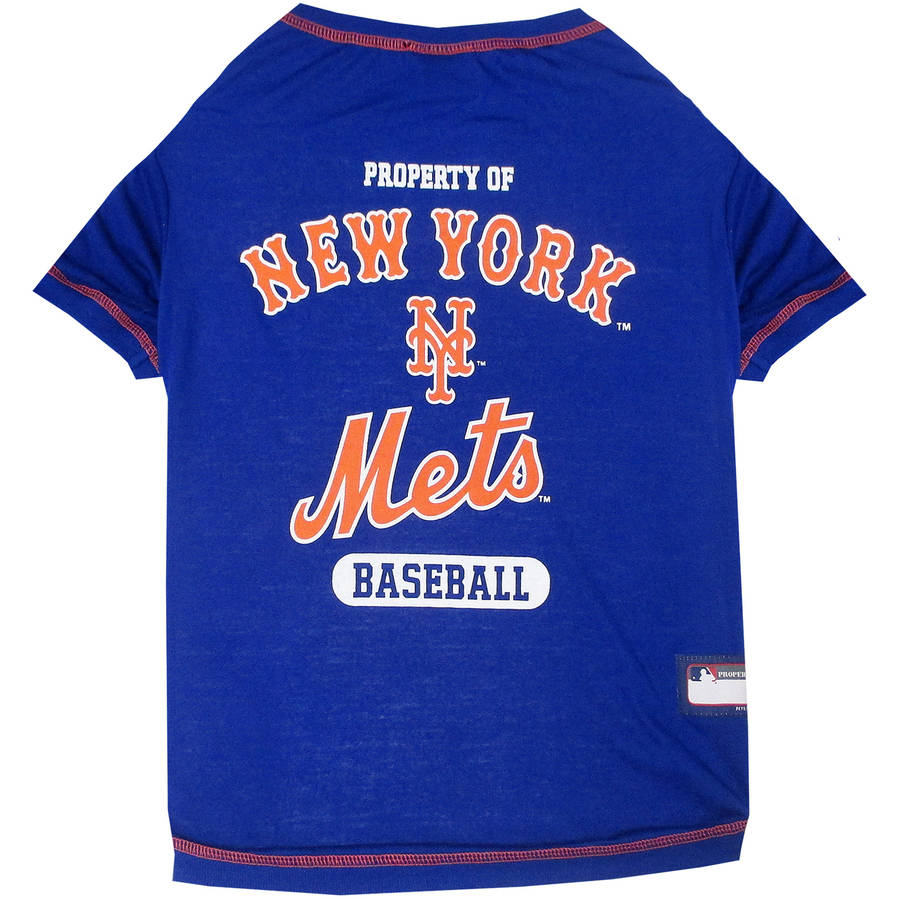 Pets First MLB New York Mets Pet T-shirt, Assorted Sizes by Pets First