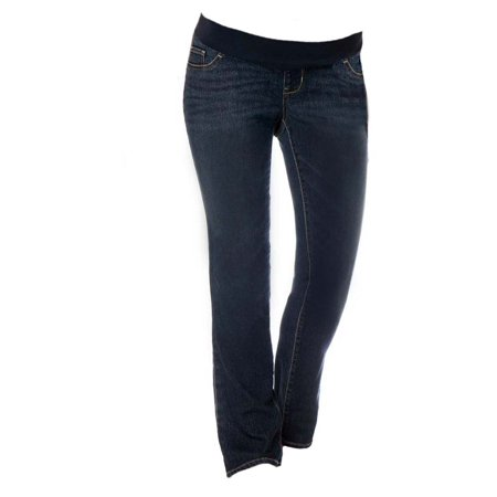 Maternity Low Rise Bootcut Jeans For Women Pregnancy Pants With Stretch Panel Cute & (Low Rise Jodhpurs)