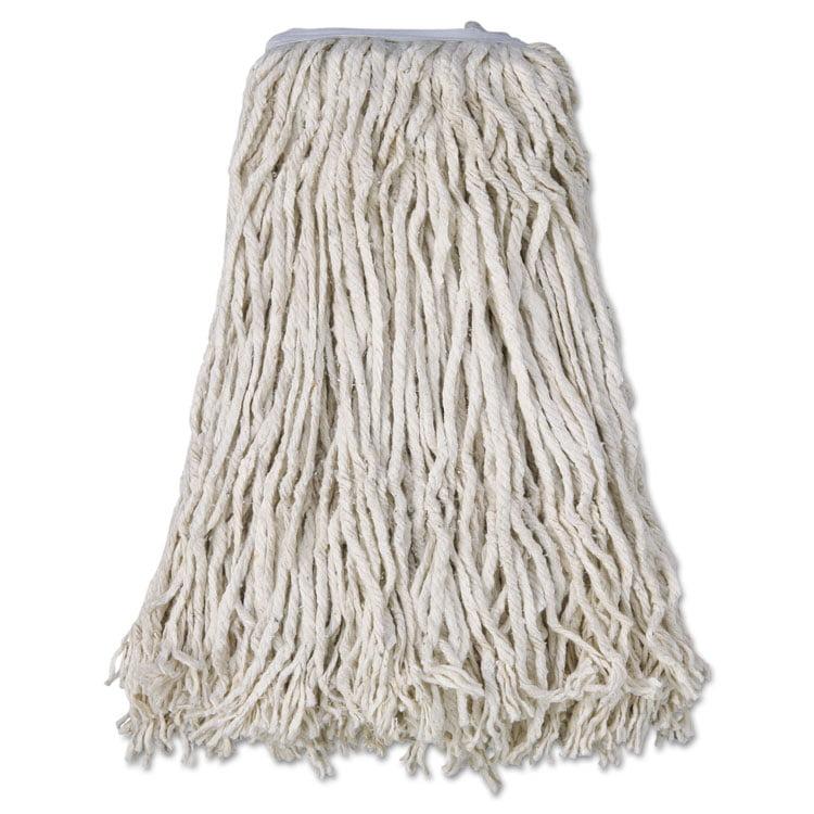 Cotton Mop Head, Cut-End, #32, White, 12 carton by