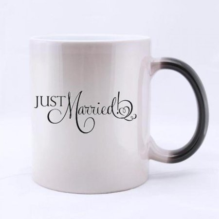 fashionable just married funny pattern quotes tea or coffee mug