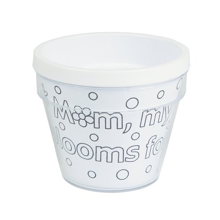 Fun Express - Cyo Mom Artist Flowerpots for Mother's Day - Craft Kits - CYO - Paper - Misc CYO - Paper - Mother's Day - 12 Pieces for $<!---->