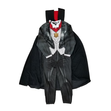 Mens Count Dracula Vampire Costume Union Suit Fleece Pajamas & Cape - Men Vampire Costumes