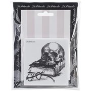 LaBlanche Silicone Stamp, 3 by 3-Inch, Skull and Book Multi-Colored