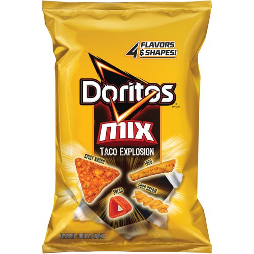 Doritos Mix, Taco Explosion Flavored Tortilla Snacks, 9.5 oz. Bag