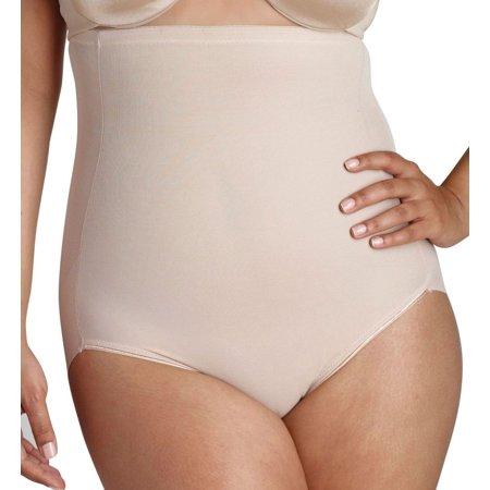 Women's Naomi & Nicole 7775 Unbelievable Comfort Plus Hi-Waist Shaping Brief (Cupid Nude 5X) - image 1 de 4