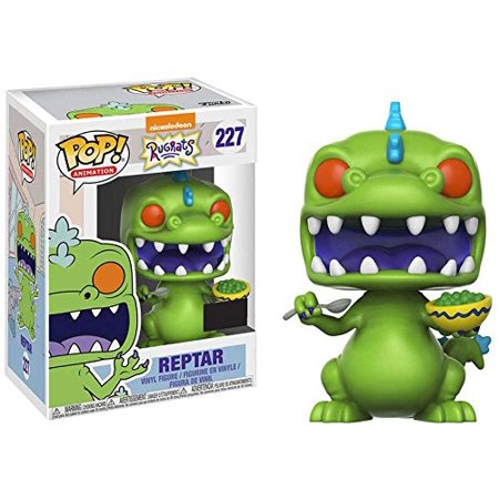 Pop! Animation Nickelodeon Rugrats Reptar #227 (With Cereal), REPTAR VINYL FIGURE – Reptar is everyone's favorite green T Rex from the hit Nickelodeon TV show,.., By FunKo