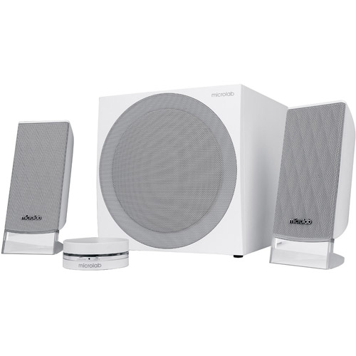 Microlab FC20 40W Subwoofer Stereo Speaker, White