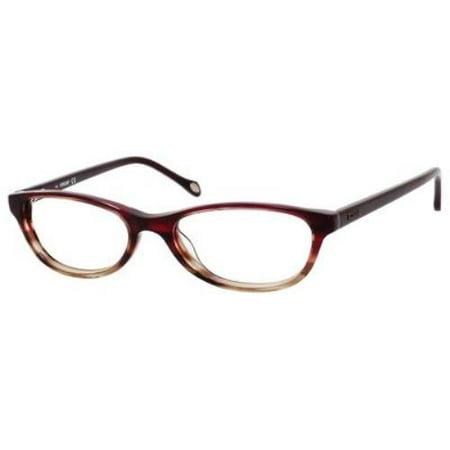 63ce743cc1d FOSSIL Eyeglasses MIKAYLA 0FM3 Striated Burgundy 52MM - Walmart.com