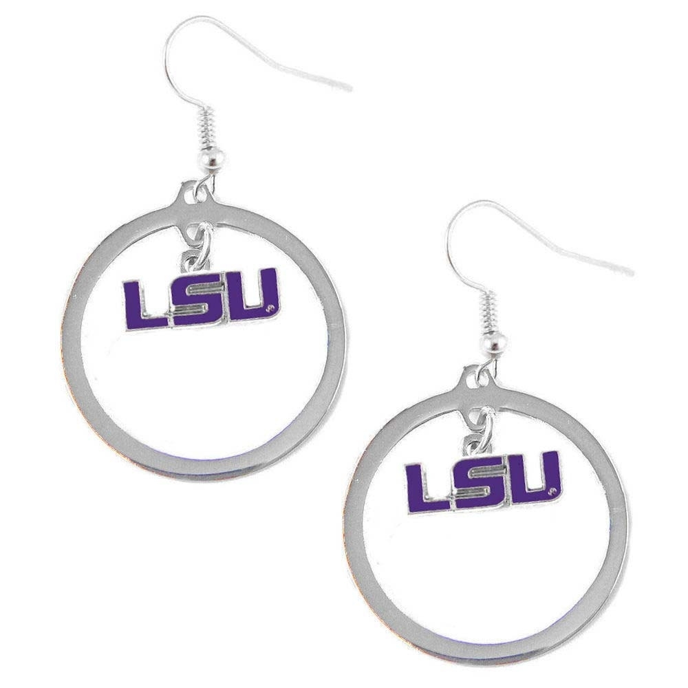 LSU Tigers Hoop Sports Team Logo Earring Set NCAA Charm - Walmart.com