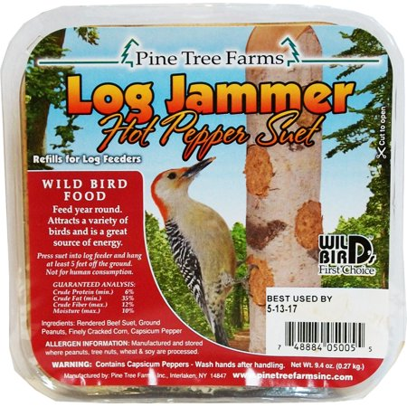 Pine Tree Farms Inc-Log Jammers Suet Plugs- Hot Pepper 9.4ounce/3