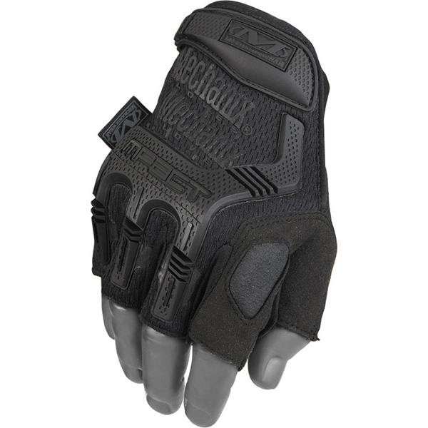 Mechanix Hunting M-Pact Fingerless Tactical Gloves Covert Black Med