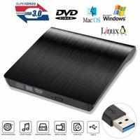 USB 3.0 External DVD Drive, EEEKit Slim Portable External CD DVD Drive CD-RW Writer Burner Reader Player for PC Desktop Laptop Notebook
