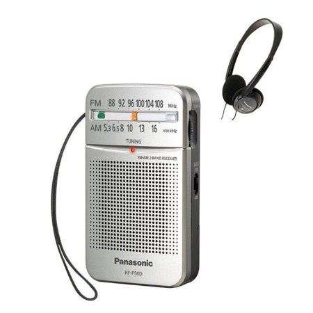 Panasonic RF-P50 Pocket AM/FM Radio, Silver with