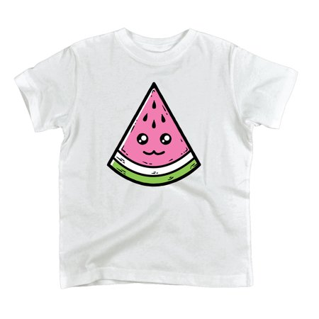 Watermelon Kawaii Seeds Happy Face Style Cute Cool Fashion-Toddler T-Shirt