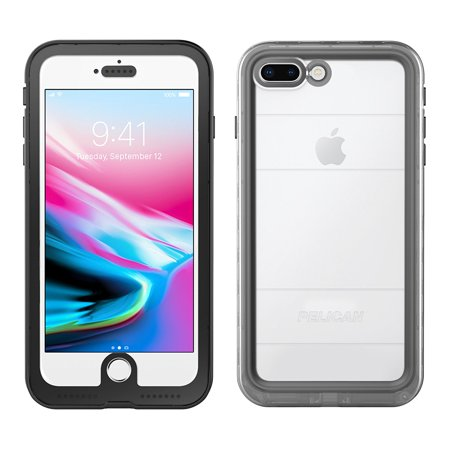 iPhone 7 Plus Case | Pelican Marine Waterproof Case - fits iPhone 6/6s/7 Plus (Clear/Black)