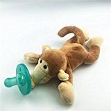 1PCS Cute Silicone Pacifier Plush Animal Stuffed Figure Toys Easy Cleaning For Calming Baby Product Kids Basic Skills Development Monkey