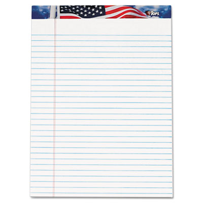 American Pride Writing Pad, Legal Wide, 8 1 2 x 11 3 4, White, 50 SHeets, Dozen, Sold as 1 Package, 12 Pad per... by