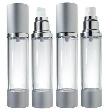 Airless Pump and Bottle Spray Set Voyage Rechargeables - 1,7 fl oz (4 Pack- 2 chaque pulvérisation et de la pompe)