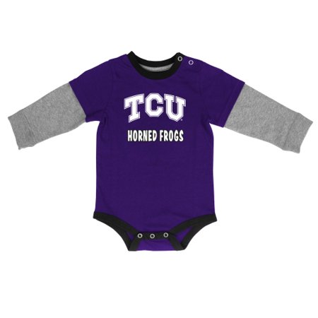 TCU Horned Frogs Colosseum Infant Long Sleeve Bodysuit - (Purple Horn)