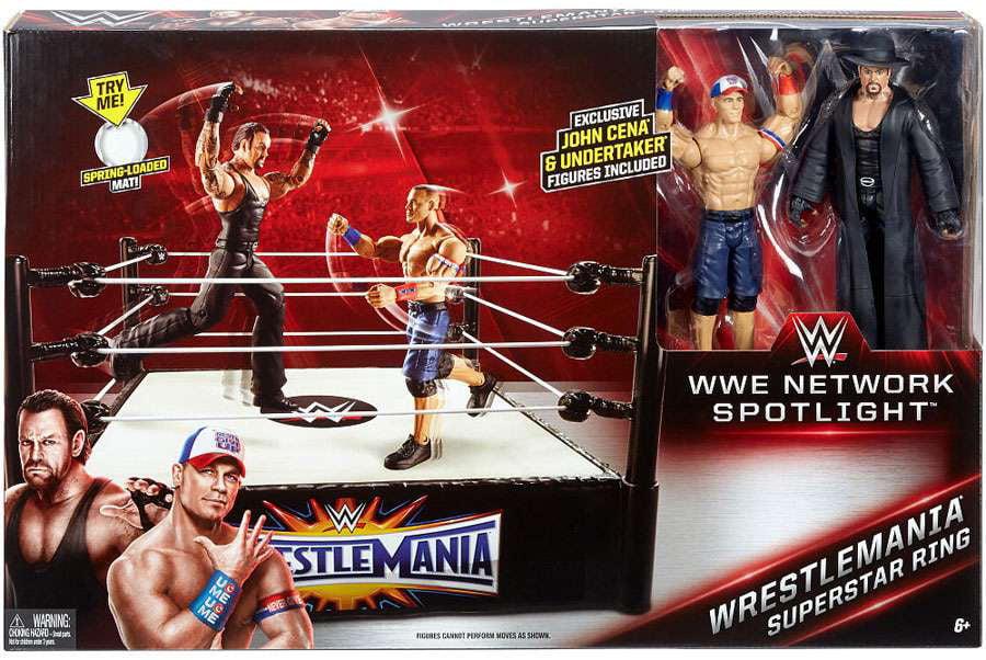 WWE Wrestling WWE Network Spotlight WrestleMania Superstar Ring [Includes John Cena &... by