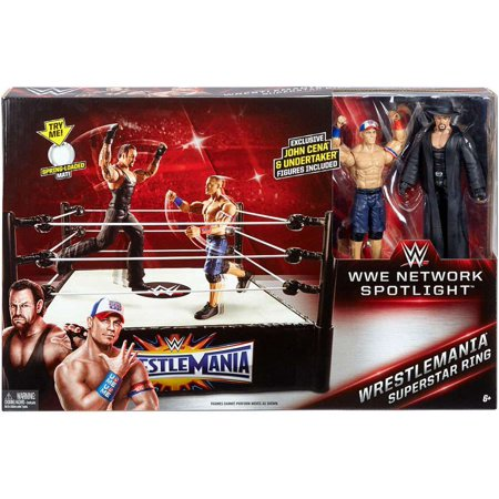 WWE Wrestling WWE Network Spotlight WrestleMania Superstar Ring [Includes John Cena & - Undertaker Toys