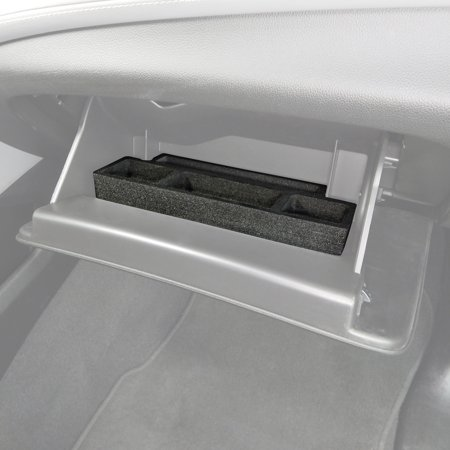 Red Hound Auto Glove Box Organizer Insert Organizational System Compatible with Chevy Chevrolet GMC Tahoe Yukon 2015 2016 2017 2018 2019 Black Anti-Rattle Made in USA Full Floor Console