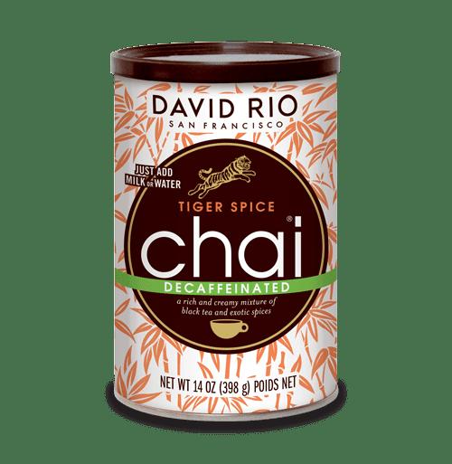 David Rio Decaf Tiger Spice Chai, Powdered Tea, 14 Oz