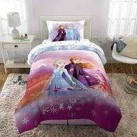 "Frozen 2 "" Spirit of Nature "" Twin/Full Reversible Comforter and Sham Set"