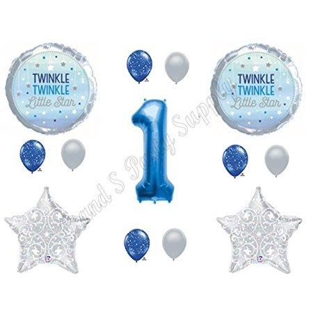 1ST BIRTHDAY TWINKLE TWINKLE LITTLE STAR BOY Balloons Decoration Supplies Nursery Rhymes