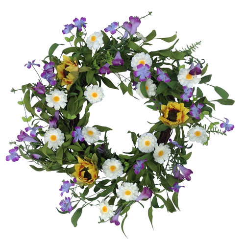 Mills Floral Field of Flowers Wreath
