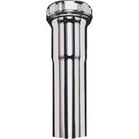Plumb Pak PP20226 Extension Tube, 1-1/4 in Dia X 12 in L, Slip Joint, 22 ga, Brass, Chrome