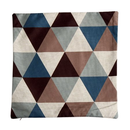 Back to College Gifts & Accessories Piccocasa Sofa Linen Blue Rhombus Pattern Cushion Cover Pillow Case 45 x 45cm